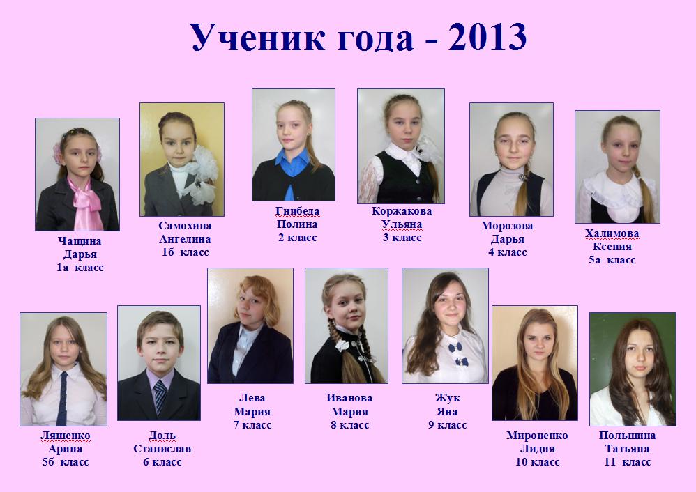 ученик года 2013